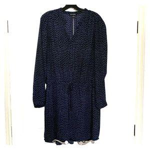 Hilary Radley Large lined waisted navy dress